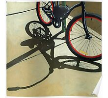 """Splash of Red"" - bicycle oil painting Poster"