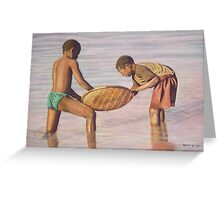 Boys Fishing Greeting Card