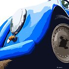 Blue VW Beetle by Joe Stallard