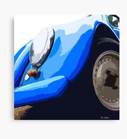 Blue VW Beetle Canvas Print