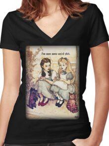 I've seen some weird shit Women's Fitted V-Neck T-Shirt