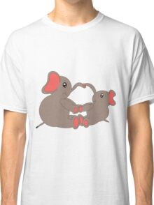 Momma and Baby Elephants Classic T-Shirt