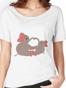 Momma and Baby Elephants Women's Relaxed Fit T-Shirt
