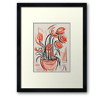 Flowing Flowers Framed Print