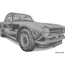 Triumph TR6 by BSIllustration