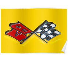 C3 Corvette emblem Poster