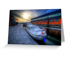 Snow Boat 1.0 Greeting Card