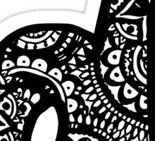 D Doodle Letter Sticker