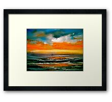 And The Evening Sun Descending..... Framed Print