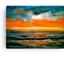 And The Evening Sun Descending..... Canvas Print