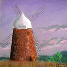 Windmill at dusk by Hilary Robinson
