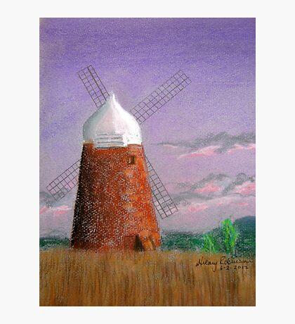 Windmill at dusk Photographic Print