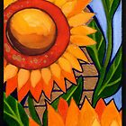 Sunflower column No2 by Chris  Sowels