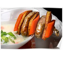 Parsley Root Cream With Sausage Stick Poster