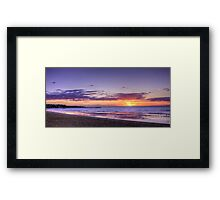 Sunset Frankston Beach Framed Print