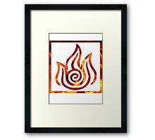 Fire Nation logo Framed Print