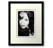 Touched by the hand of Chris Framed Print