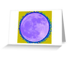 Blue Moon with Alternative Halo Greeting Card