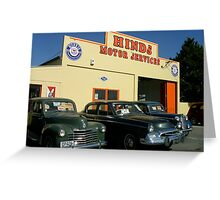 Hinds Motor Services Greeting Card