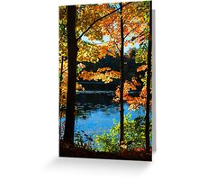 Foliage by the Nashua River Greeting Card