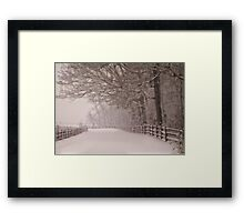 Path into the storm Framed Print
