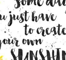Create Your Own Sunshine Sunflower Wreath Sticker