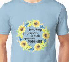 Create Your Own Sunshine Sunflower Wreath Unisex T-Shirt