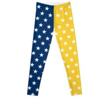 Maize And Blue Stars Leggings