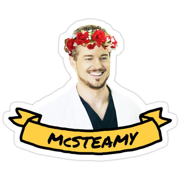 Quot Mcsteamy Quot Stickers By Drmedusagrey Redbubble