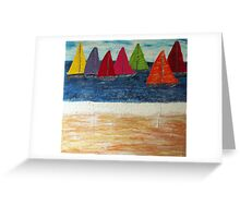 Sand, Surf 'n Sails Greeting Card