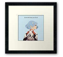 I do (not) know who I am Framed Print