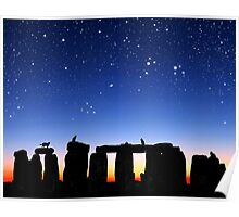 Dawn at Stonehenge: Taurus, Pleiades and Aries Poster