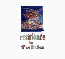 Rainbow drops - resistance is futile Womens Fitted T-Shirt