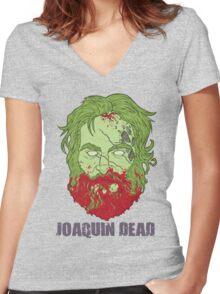 Joaquin Dead Women's Fitted V-Neck T-Shirt