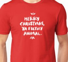 Merry Christmas, Ya Filthy Animal – Red Unisex T-Shirt