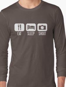 Eat. Sleep. Shoot. Long Sleeve T-Shirt