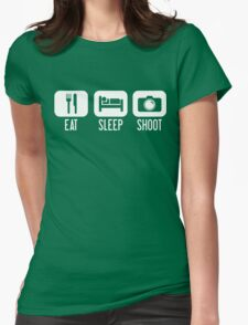Eat. Sleep. Shoot. Womens Fitted T-Shirt