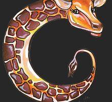 Seahorse Giraffe Moon by littlebluerenn