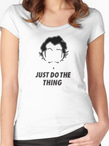 Zhu Li, Just Do the Thing! Women's Fitted Scoop T-Shirt