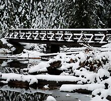 Snow Covered Bridge by North22Gallery