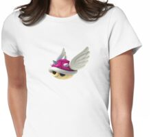 Pink shell Mario Kart Womens Fitted T-Shirt