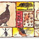 'n Afrika Collage en Bosvelddrome | An African Collage   by Maree Clarkson