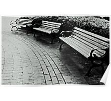 Three Benches Poster