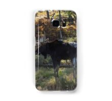 Large Moose in the woods Samsung Galaxy Case/Skin