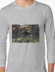 Large Moose in the woods Long Sleeve T-Shirt