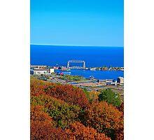 Aerial Lift Bridge in Autumn Glory  Photographic Print