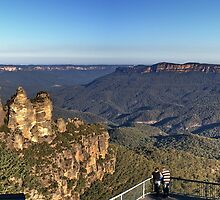 The Three Sisters & Jamison Valley by Ross Campbell