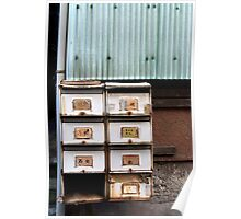 rustic letterboxes Poster