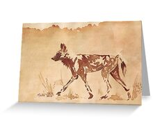 Painted Dog - African Wild Dog Greeting Card
