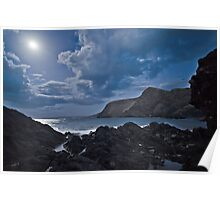 Moon over the Gulf of St Vincent II Poster